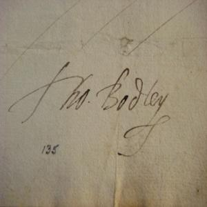 The signature of Thomas Bodley