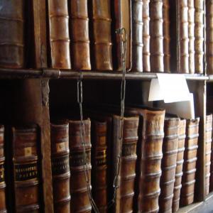 A library shelf