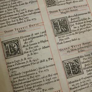A page from the Bodleian Library's Benefactors' Register